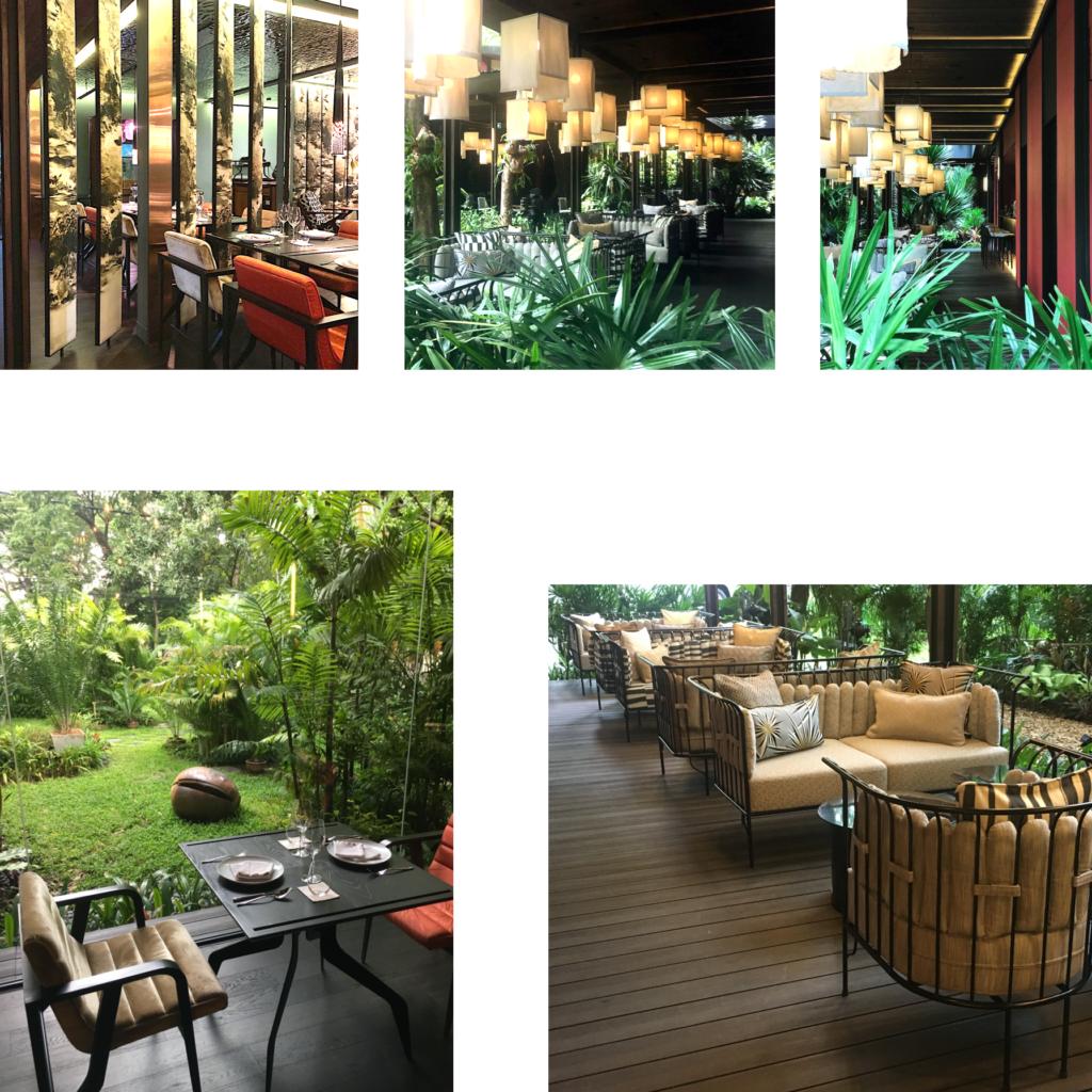 art work selection for restaurant in Bangkok